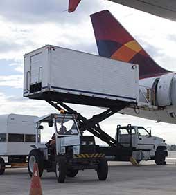 Container sendo carregado